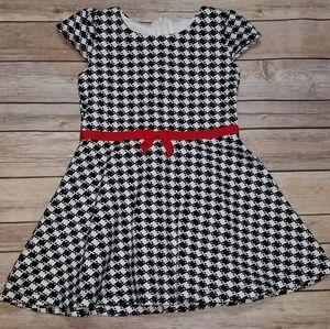 Gymboree Olivia Checked GrosGrain Bow Dress Size 5